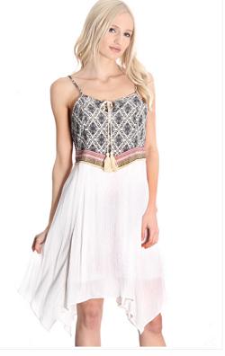 Boho Summer - White Gauze Dress